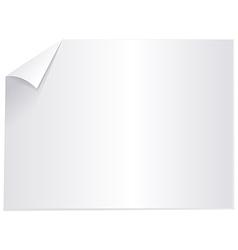 Blank sheet paper vector