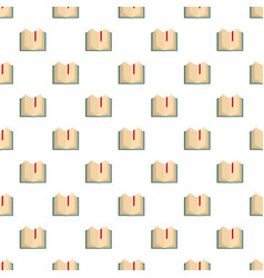 book bookmark pattern seamless vector image