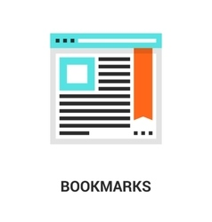 bookmarks icon concept vector image