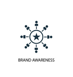 Brand awareness icon simple element vector