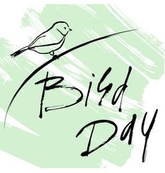 card international bird day vector image