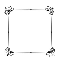 classic frame scroll on white background vector image
