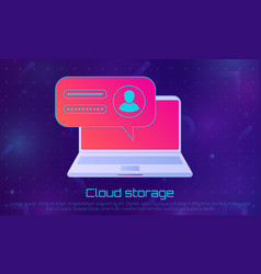 cloud file storage vector image