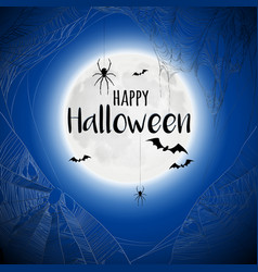 cobweb spiderweb halloween background vector image