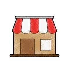 Commerce store icon vector