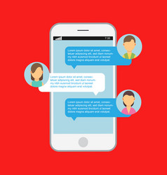 communication online chat web notification vector image