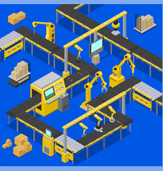 computers and production vector image