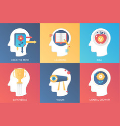 concept creative mind learning idea vector image