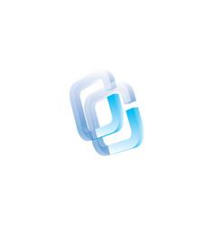 creative abstract letter cc logo design vector image