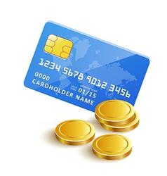 CreditCardGoldCoinsPaymenticon vector