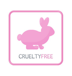 cruelty free flat icon vector image vector image