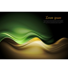 Dark orange and green waves template vector image