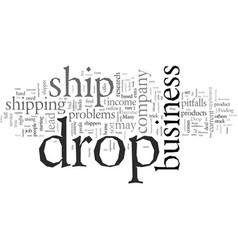 Drop ship for profits vector