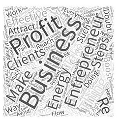 Entrepreneur profit Word Cloud Concept vector