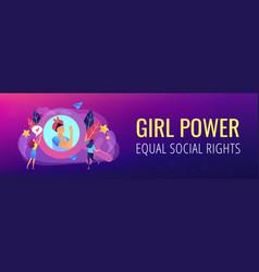 feminism header or footer banner vector image