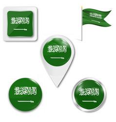 Flag saudi arabia accurate dimensions vector