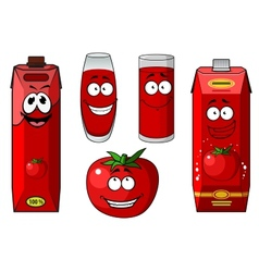 Fresh tomato and tomato juice vector