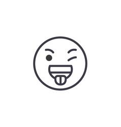 funny emoji concept line editable concept vector image