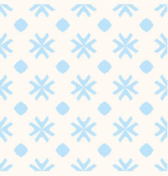 geometric blue and beige seamless pattern vector image