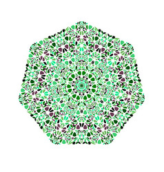 Geometrical isolated floral ornament heptagon vector