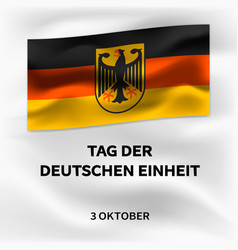 German october unity day concept background vector