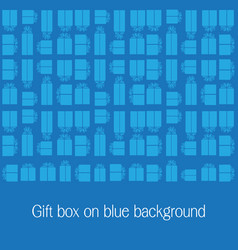 gift box on blue background vector image