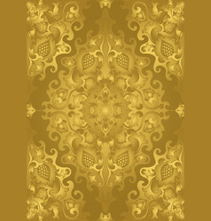 Gold pattern with damask vector