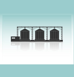 granaries vector image