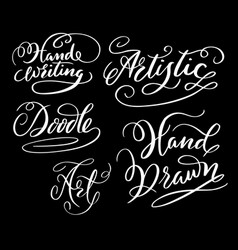 hand writing hand written typography vector image