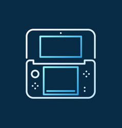 handheld game console linear colored icon vector image