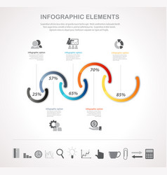 infographics and business icons vector image