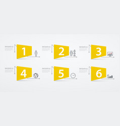infographics labels 6 options or steps business vector image