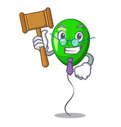 Judge green balloon on character plastic stick vector