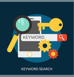 Keyword search conceptual design vector
