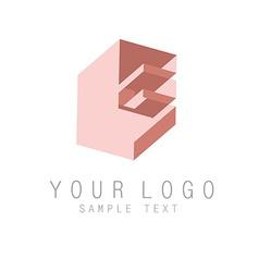 Letter E icon vector image