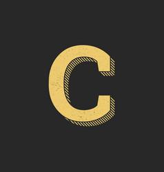 logo letter c gold vintage vector image