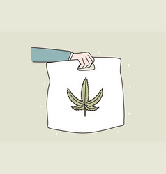 marijuana delivery and distribution concept vector image