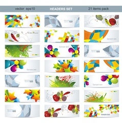 Mega pack of banners vector image vector image