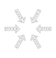 Mesh compact arrows icon vector