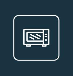 microwave icon line symbol premium quality vector image