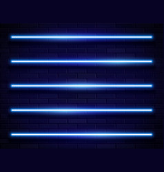 Modern neon iridescent glowing lines banner on vector