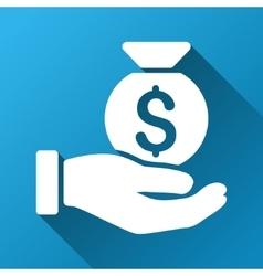 Money Bag Payment Gradient Square Icon vector