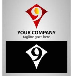 Number nine 9 logo icon design template elements vector