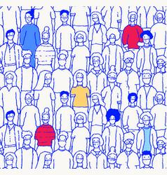 people masks seamless covid19 coronavirus vector image