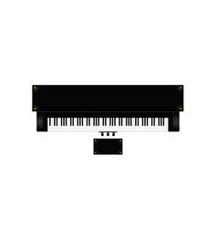 piano instrument with decor on it vector image