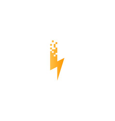 pixel power logo icon design vector image