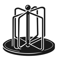 Playground carousel icon simple style vector