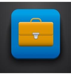 Portfolio symbol icon on blue vector image