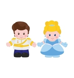Prince and Princess cartoon style vector image