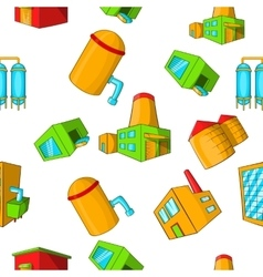 Production plant pattern cartoon style vector